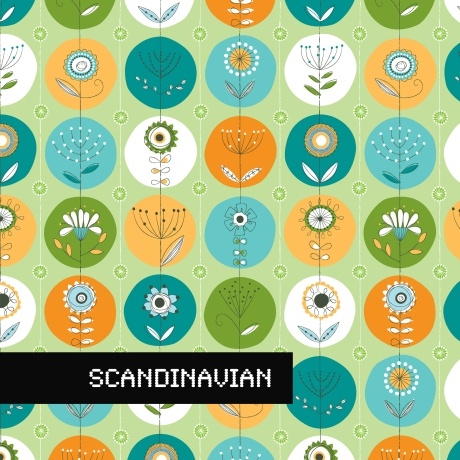 scandinavian design, greeting card